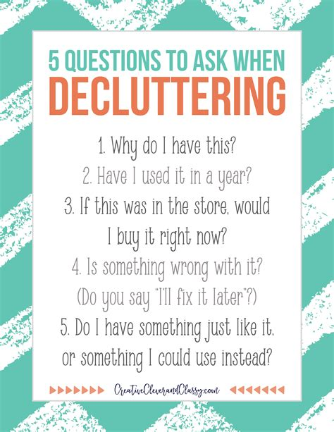 Things To Ask Yourself Before Buying Anything by 5 Easy Questions To Ask Yourself When Decluttering