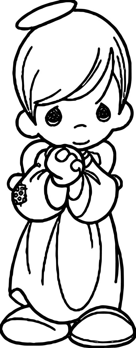 baby angel coloring page precious moments boy angel coloring page wecoloringpage