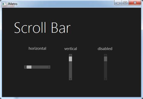 java swing scrollbar metro style scroll bar for java jmetro revisited