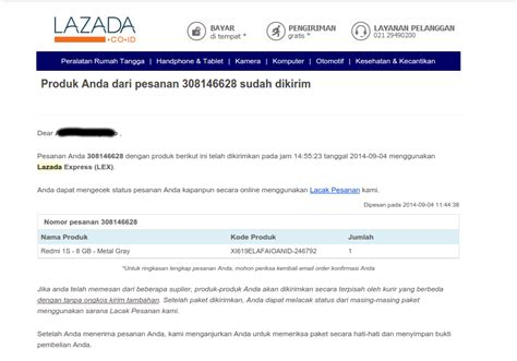 Email Lazada | info dan tips android pengalaman flash sale redmi 1s di