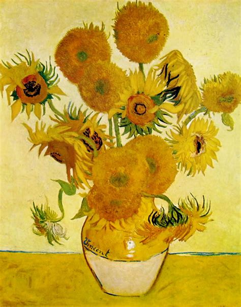 vaso con girasoli gogh vaso con girasoli di gogh