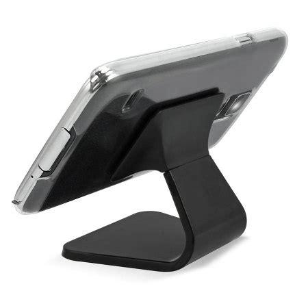 Samsung Galaxy S5 Smart Cover Auto Lock Stand Leather Sleeve I9600 supporto da tavolo con ventosa per smartphone nero