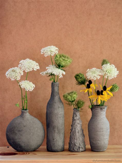 Decorative Ornaments For The Home by Formed Cement Glass Vases Diy Furniture Studio
