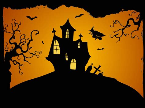 Crooked Houses by Halloween Background Vector Vector Art Amp Graphics