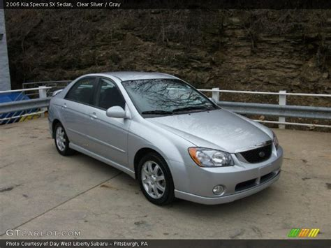 2006 Kia Spectra Sx 2006 Kia Spectra Sx Sedan In Clear Silver Photo No