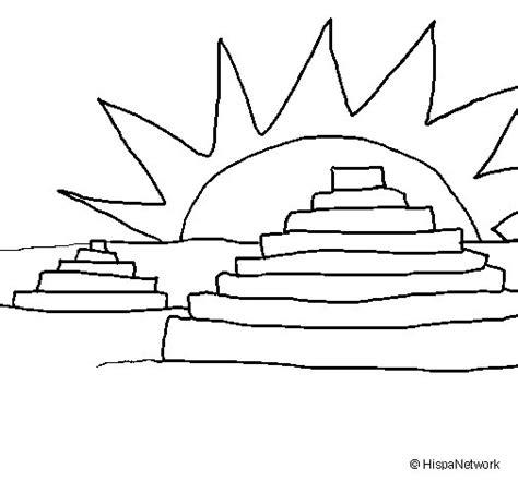 imagenes mayas para pintar dibujo de templos mayas para colorear dibujos net