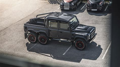kahn land rover defender double cab 2018 kahn design land rover defender flying huntsman 6x6