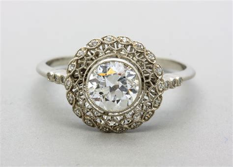 Wedding Rings Vintage by Vintage Platinum Wedding Ring Ipunya