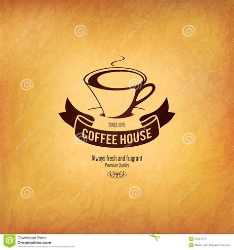 coffee house logo design menu for restaurant cafe bar coffee house stock vector