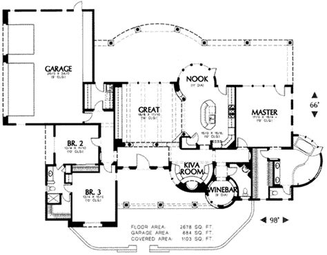 adobe floor plans adobe southwestern style house plan 3 beds 3 baths