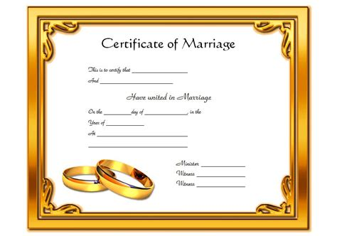 marriage certificate template free microsoft marriage certificate templates the best