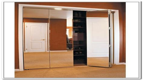 Mirrored Bifold Closet Doors Lowes Trifold Closet Doors Mirrored Closet Doors Bifold Interior Exterior Doors Lowe S Bifold