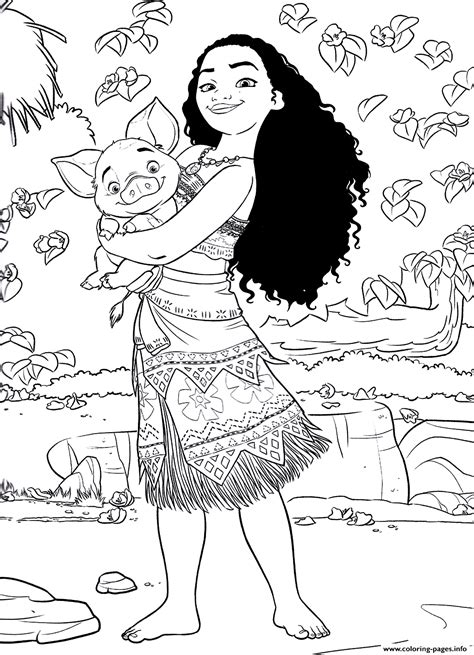 printable poster to color princess moana disney coloring pages printable