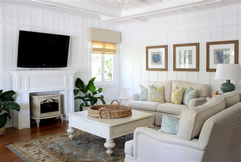beach cottage living room coastal cabin interior the house decorating