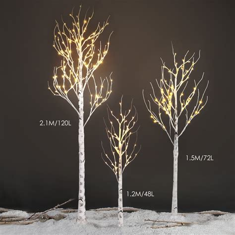 silver led christmas tree