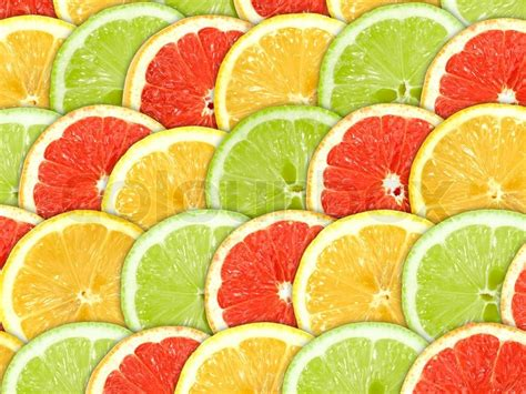 colorful lemon wallpaper abstract three color background with citrus fruit of