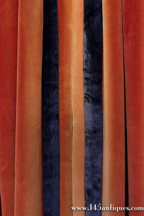 orange velvet curtains pair of deep sangrine orange velvet drapes with
