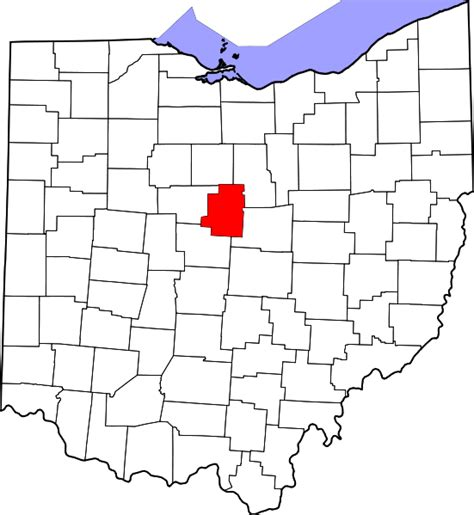 Morrow County Oh Search File Map Of Ohio Highlighting Morrow County Svg Wikimedia Commons