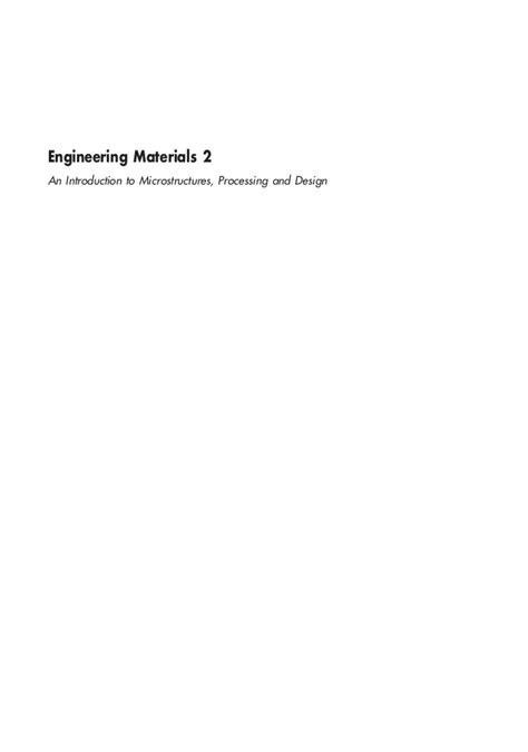 engineering materials 2 engineering materials 2 e volume2