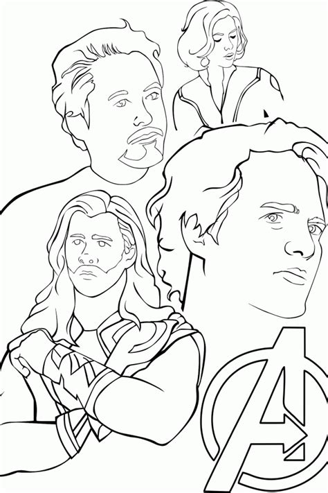 avengers coloring pages for kids az coloring pages