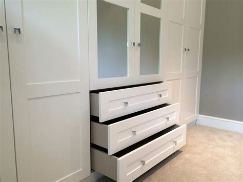 Wardrobe Inserts Uk fitted wardrobe with mirror inserts and drawers