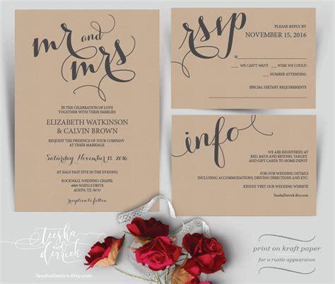 mr mrs wedding invitations mr and mrs wedding invitation instant by