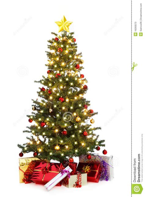 decorated christmas tree stock photos image 16293573