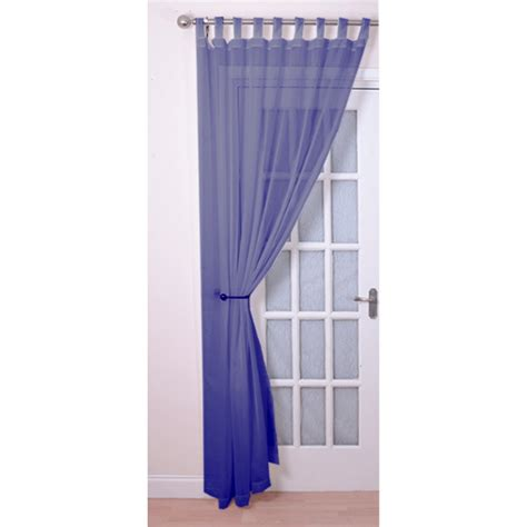 cornflower blue curtains tab top voile panels pair finished in cornflower blue