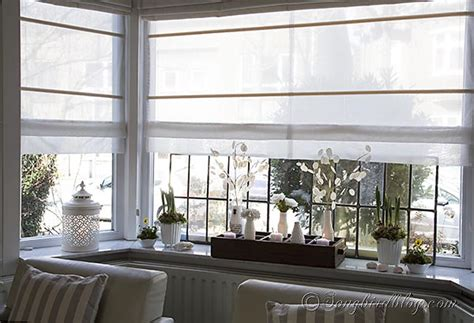How To Decorate A Bay Window | spring decorating on a window sill