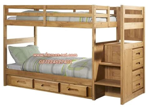 Tempat Tidur Kayu Di Bandung jual tempat tidur tingkat berlaci kayu jati terbaik model minimalis kamar set