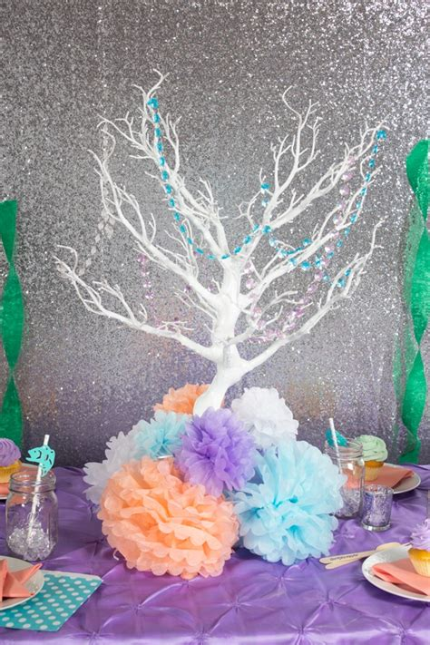 the sea centerpieces the sea birthday ideas linentablecloth