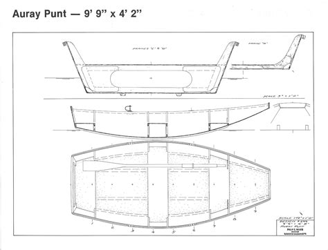 auray punt boat plans auray punt 9 9 quot x 4 2 quot h h payson and company
