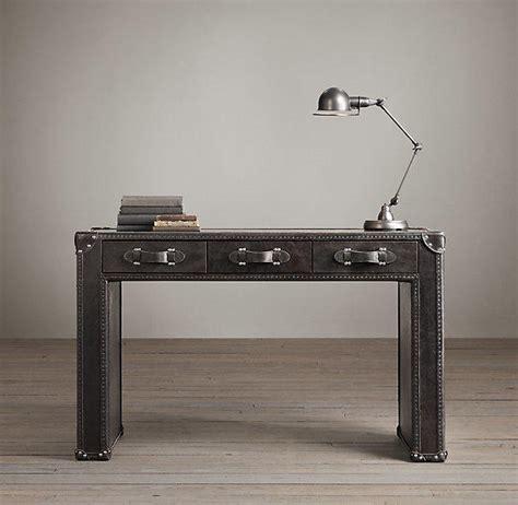 mayfair steamer trunk 3 drawer desk from restoration hardware