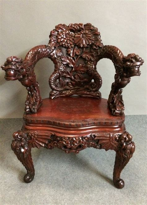 dragon armchair dragon carved armchair antiques atlas