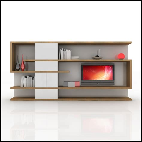tv wall unit modern design x 04 home media center 3d