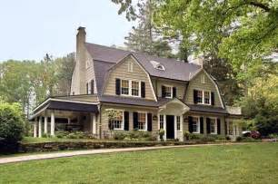 dutch colonial look that side porch great neighborhood homes custom home builder