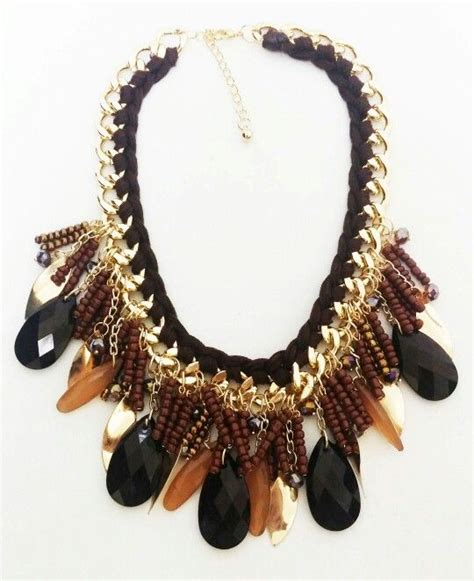 Kalung Broken Golden rainy day brown necklace kalung brown and
