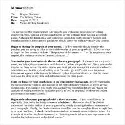 sle memo template cover letter for memos