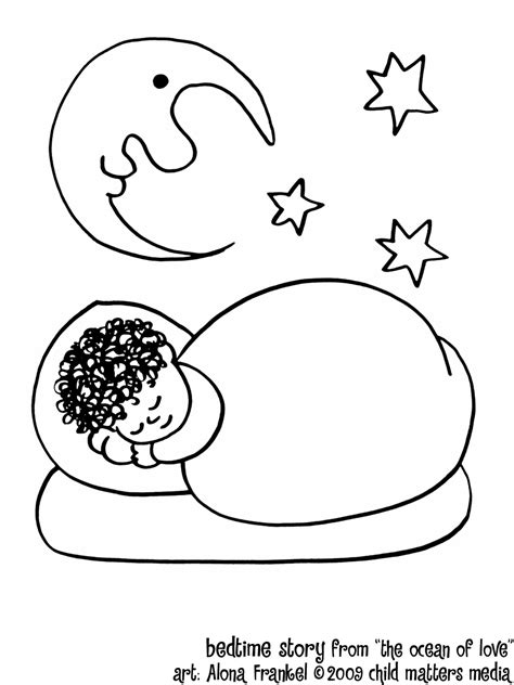 free coloring pages of a child sleeping