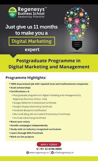 Best Mba South Africa by Which Is The Best Digital Marketing Executive Course Quora