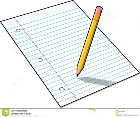 How To Make Paper Pencil - paper and pencil clipart clipartxtras