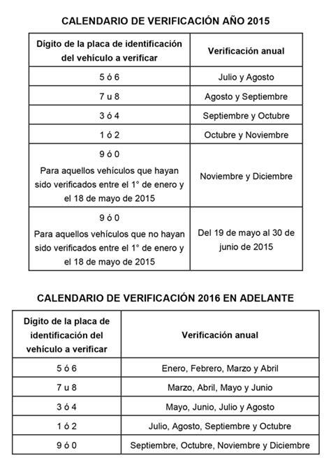 condonan pago de verificacion 2016 calendario de verificaci 243 n f 237 sico mec 225 nica 2015 y 2016