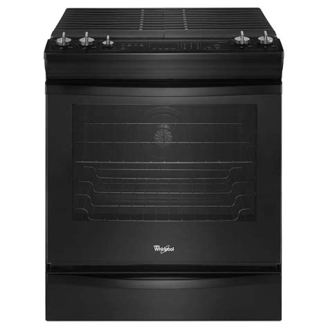 whirlpool 5 8 cu ft slide in gas range with self