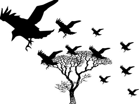 Lovely Free Clipart For Christmas #2: Crow-clipart-Crows-clip-art-at-vector-clip-art-free.png