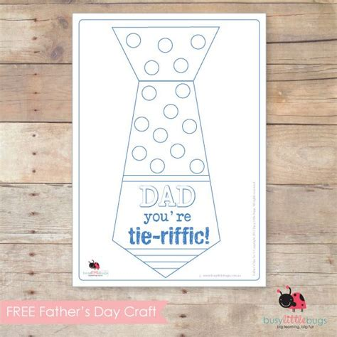 Preschool Fathers Day Card Templates by You Re Tie Riffic Printable Tie Template