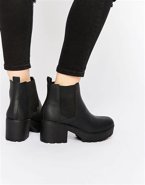 asos asos rook chunky chelsea ankle boots at asos