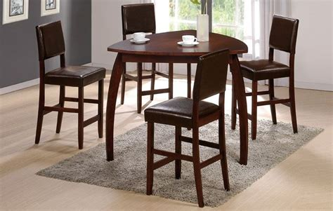 47 quot enrica triangle counter high dining table set