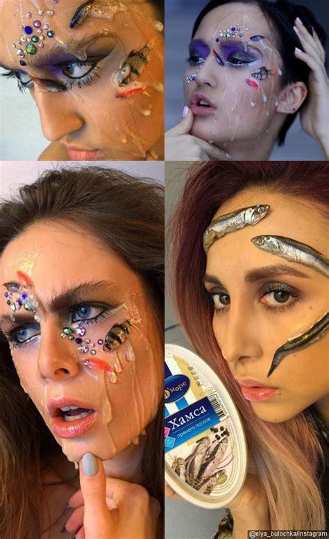 Make Up Ovan Putri astaga make up artis asal rusia ini gunakan ikan asli untuk aksesoris wajah kabar berita
