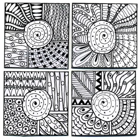 zentangle pattern squares pin by sharon bourque on zentangle pinterest
