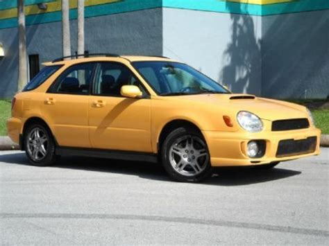 yellow subaru wagon find used wrx turbo wagon 5 speed manual yellow
